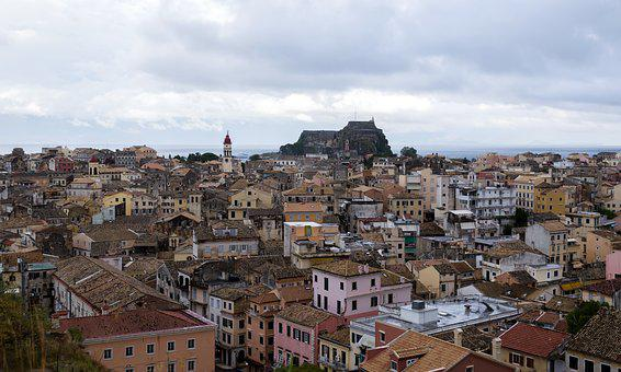 City, Town, Architecture, Cityscape, Panoramic, Corfu