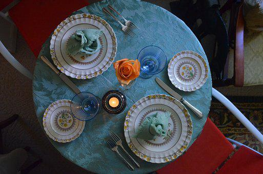 Food, Place Setting, Restaurant, Table, Plate