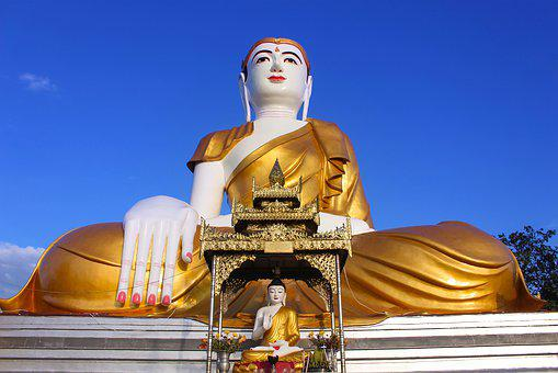 Buddha, Statue, Religion, Travel, Temple, Myanmar
