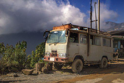Transportation, Vehicle, Chin State, Myanmar, Old, Car