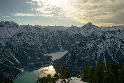 Alps, Lake, Mountains, Landscape, Austria