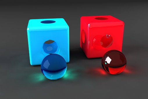 Cube, Caustic Balls, Show, Game, Box, Given
