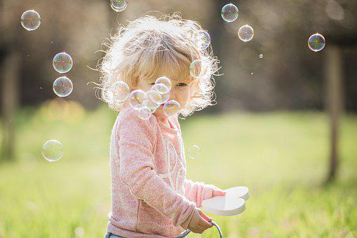 Nature, Summer, Nice, Girl, Bubble, To Call, Blonde