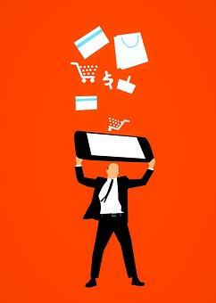 Man, Business, Visa, Buying, Card, Cellphone, Banking