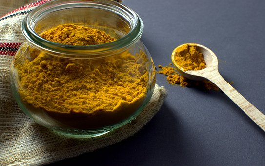 Turmeric, Manson Jar, Spoon, Food, Spice, Condiment