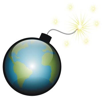 Planet, Bomb, Destruction, America, Explode, Earth
