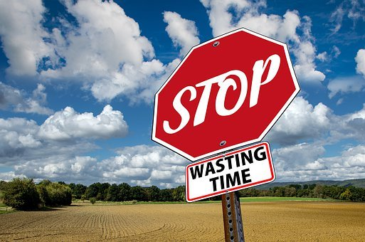 Stop, Time, Waste, Ad, Saying, Set, Prompt, Hurry, Fear
