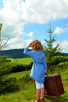 Nature, Grass, Summer, Human, Luggage, Oberwiesenthal
