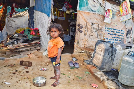 People, Child, Girl, Poor, Slums, India, H4zp, Little