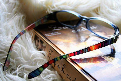 Reading, Glasses, Closeup, Book, Vacations, Read
