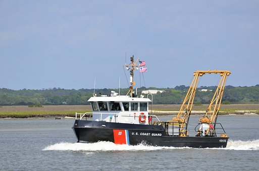 U, S, Coastguard, Boat, Rescue, Ocean, Sea, River