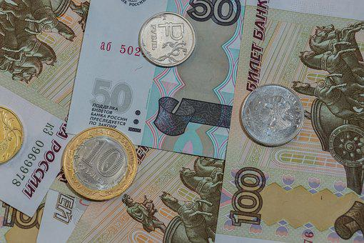 Currency, Wealth, Finances, Background, Golden, Ruble
