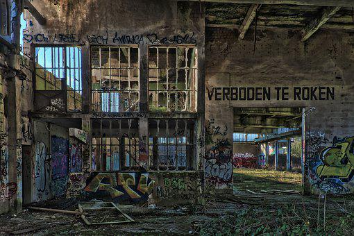 Lost Places, Building, Destroyed, Dirty, Ruin, Old