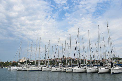 Yacht, Sea, Sailing Boat, Port, Marina, Boot, Ship Mast