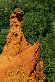 France, Rustrel, Nature, Travel, Stone, Rock, Green