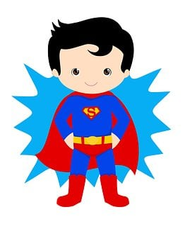 Superman, Kid Hero, Superhero, Hero, Child, Power, Fun