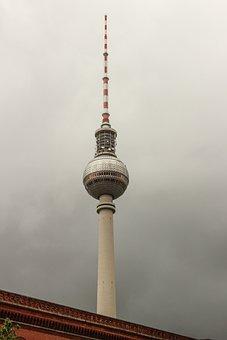 Berlin, Alex, Tv Tower, Alexanderplatz