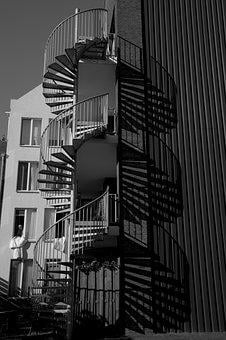 Architecture, Trap, Winding Staircase, Building, Style