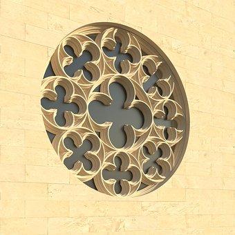 Window, Rosette, Church Window, Architecture