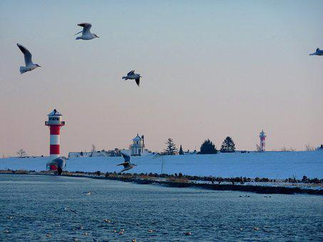 Elbe, Lighthouse, Beacon, Nature, Seafaring, Navigation