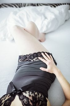Act Of Part Of, Bed, Lingerie, Sensuality, Woman
