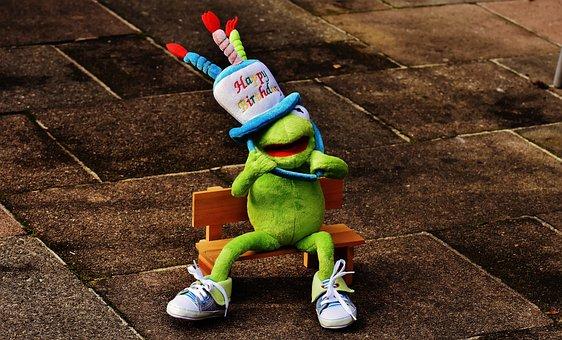 Birthday, Congratulations, Kermit, Frog, Greeting Card