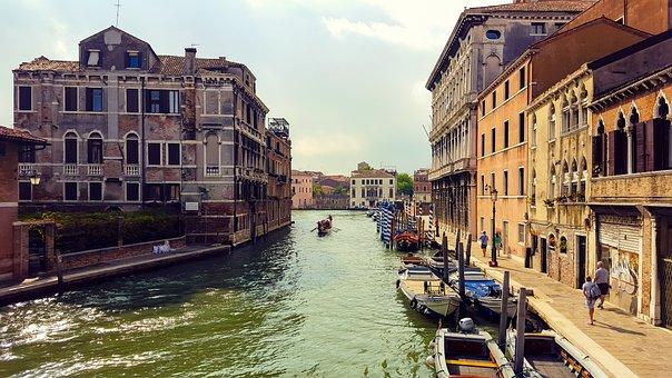 Italy, Venetian, Boat, Blue, Vittorio Emanuele Monument