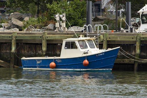 Boat, Dock, Ship, Vessel, Port, Transportation, Cargo
