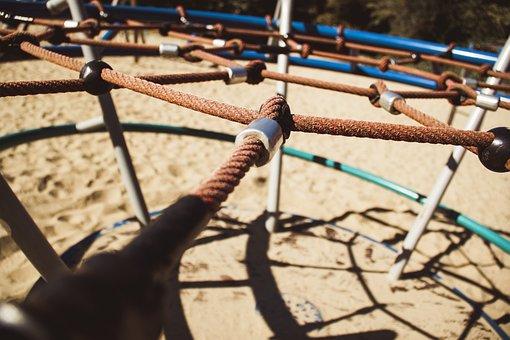 Playground, Rope, Equipment, Child, Activity, Fun