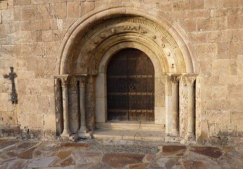 Door, Romanesque Chapel, Church, Former, Architecture