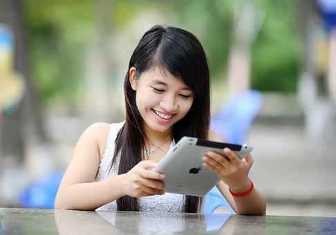Ipad, Girl, Tablet, Internet, Technology, Computer