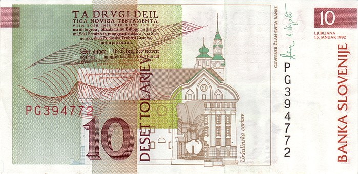 Dollar Bill, Banknote, Slovenia, Currency, Money, Bill
