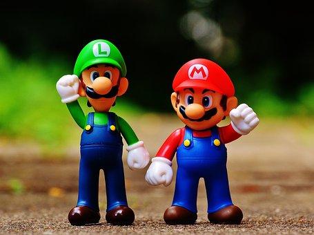 Mario, Luigi, Figures, Funny, Colorful, Cute, Children