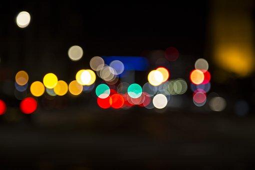 Blur, Bokeh, Lights, Dark, Night, Evening, Darkness
