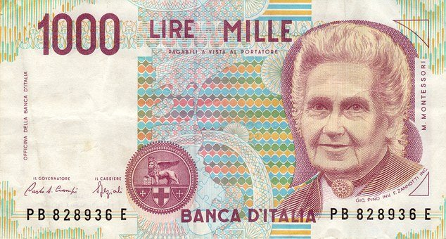 Dollar Bill, Banknote, Italy, Lire, Paper Money