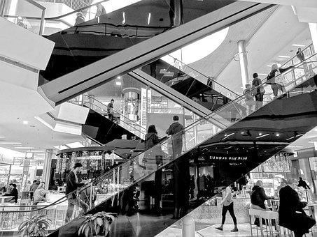 Escalator, Stairs, Architecture, Shopping Centre