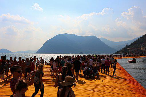 Christo, Floating Piers, Italy, Art, Installation