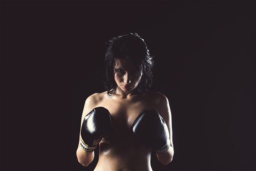 Girl, Boxer, Nude, Without Clothes, Boxing Pear, Body
