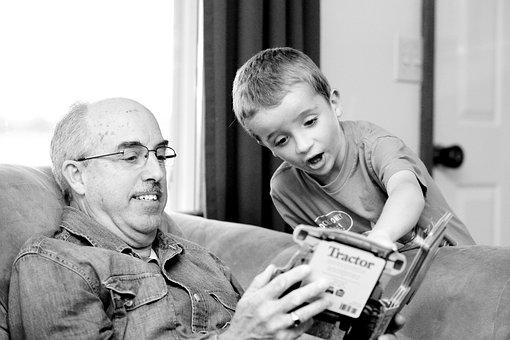 Grandpa, Grandson, Grandparent, Grandchild, Together