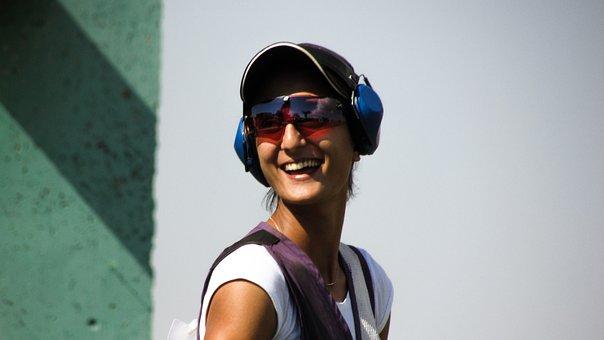 Shooting, Sport, Woman, Athlete, Happy, Smile, Success