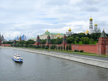 The Kremlin, Kremlevskaya Embankment, Moscow, Russia