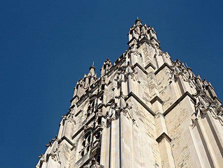 Cathedral, Tower, Canterbury, Building, Landmark