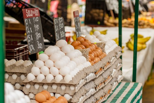 Eggs, Market, Sell, Sale, Street, Business