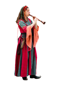 Musician, Middle Ages, Jester, Musical Instrument