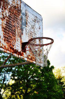 Basketball, Hoop, Urban Decay, Net, Decayed, Urban