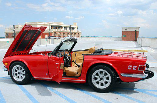 British Sports Car, Red, Nostaglia, Car, British, Auto