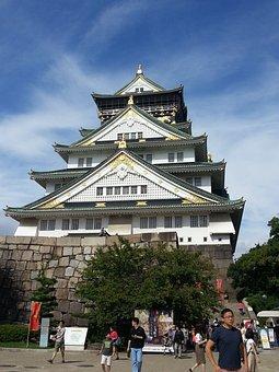 Osaka Castle, Historical Building, Castle