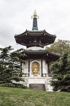 Peace, Pagoda, London, City, Park, Battersea, England