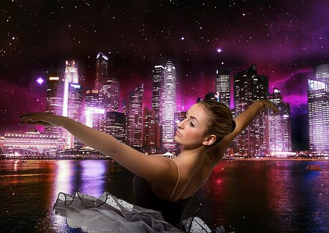 Ballerina, City, Beautiful, Photo, Dance, Ballet, Girl