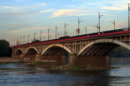 Bridge, Railway, Transport, Esperanto, Wisla, Warsaw